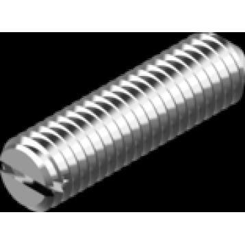 Нержавеющий винт установочный M4x10  с прямым шлицем и острым концом нержавеющая сталь А2 DIN 553