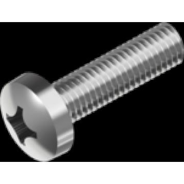 Винт М6.0х18 полукр.гл цб PH (DIN7985)