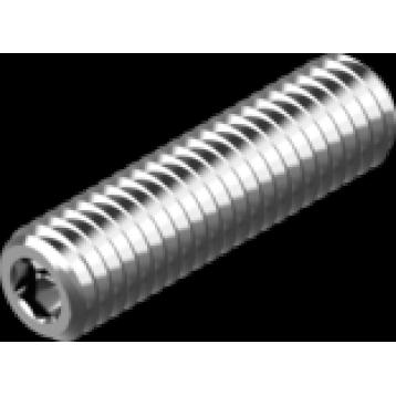 Винт установочный с внутренним шестигранником и плоским концом М5х16 нержавеющая сталь А2 DIN913