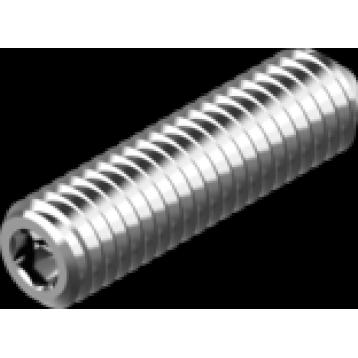 Винт установочный с внутренним шестигранником и заостренным концом М4х10 нержавеющая сталь А2 DIN914