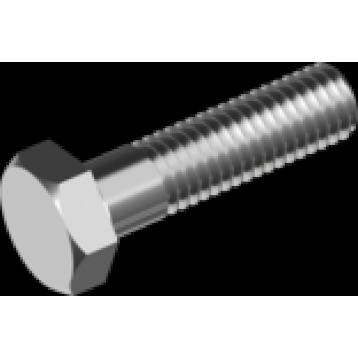 Высокопрочный болт с шестигранной головкой и неполной резьбой с мелким шагом М08х1х50 оцинкованный DIN 960 класс прочности 10.9