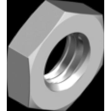 Гайка низкая нержавеющая шестигранная (с фаской) DIN 439-2 (EN ISO 4035, 8675)