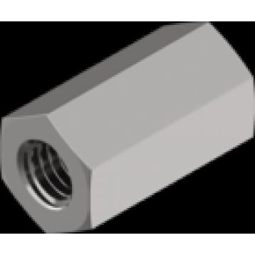 Гайка переходная шестигранная удлиненная М14х40 оцинкованная DIN6334