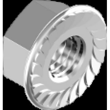 Гайка шестигранная с фланцем М10.0  A2 (DIN6923)