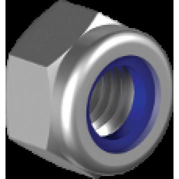 Гайка самостопорящаяся М16 кл.пр. 8 покрытие: цинк белый DIN985