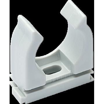 Скоба-клипса для труб  25 мм серая