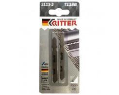 Пилки для лобзиков Ritter по стали T118B HSS 75/50мм, шаг 2 мм 12TPi  2 шт в уп
