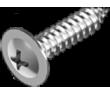 Саморез по металлу с прессшайбой ЦБ DIN 968