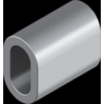Зажим-втулка алюминиевая для тросов Ø5 мм DIN 3093