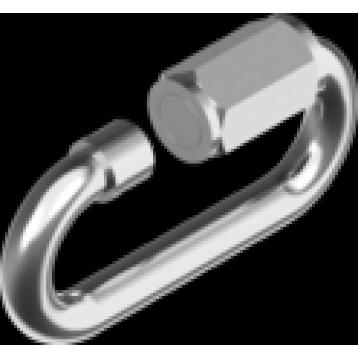 Карабин винтовой ART 9077 нержавеющая сталь