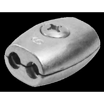 Зажим обжимной (бочонок)  02 мм цб (з)