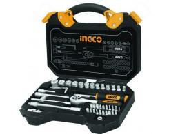 Набор инструмента INGCO HKTS14451 INDUSTRIAL, 45 предметов, в кейсе