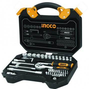 Набор инструмента INGCO HKTS14451 INDUSTRIAL, 45 предметов Cr-V, в кейсе