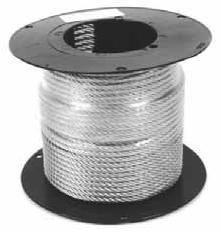 Оцинкованный стальной канат (трос) DIN 3052 (1x7), DIN 3053 (1x19)